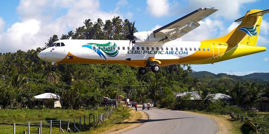 セブパシフィック航空 カティクラン空港(パナイ島)へ着陸