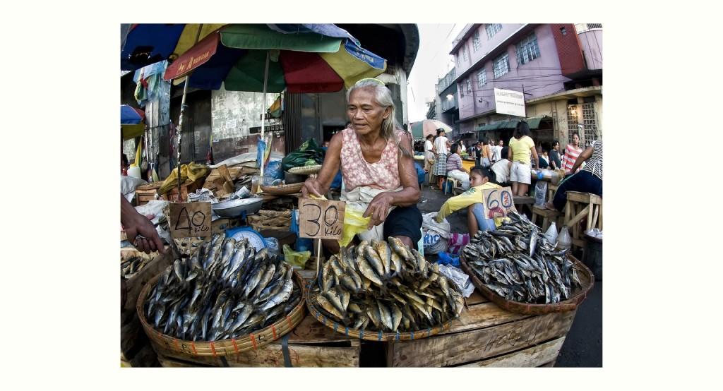 路上の干し魚売り (Dried Fish Vendor)