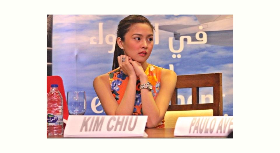 先週からアルバムチャート連続1位!のKim Chiu、イベントで訪れたドバイでの会見の模様です (Kim Chiu at presscon in Dubai)