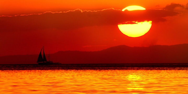 マニラ湾の夕景