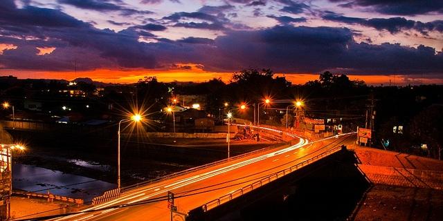 オルモック市の夕景 (Ormoc City, Leyte)