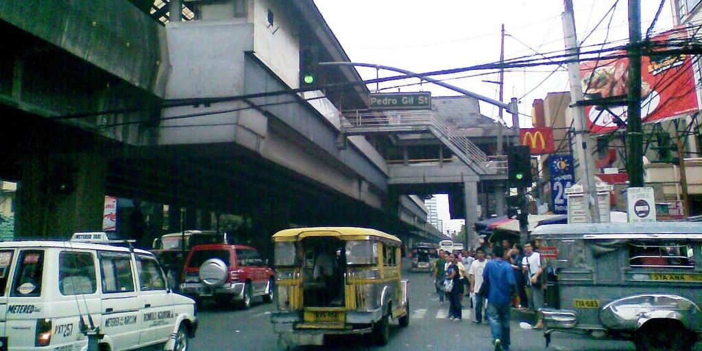 日本人観光客も多いエルミタ・マラテ地区への最寄り駅ペドロ・ヒル (LRT Pedro Gil st.)