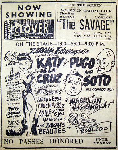 1930年代のヴォードヴィルショーのポスター